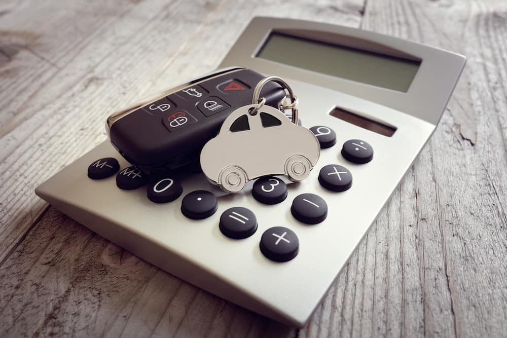 Key ring and calculator