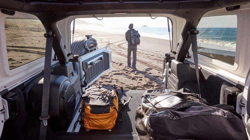 2020 Jeep Wrangler cargo area