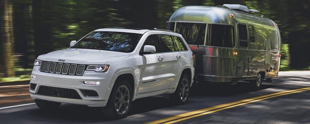 2020 Grand Cherokee towing a trailer