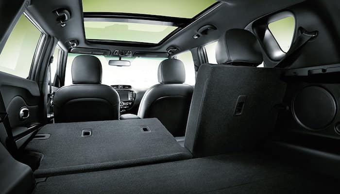 Interior of Kia Soul with 60/40 seat partially folded down