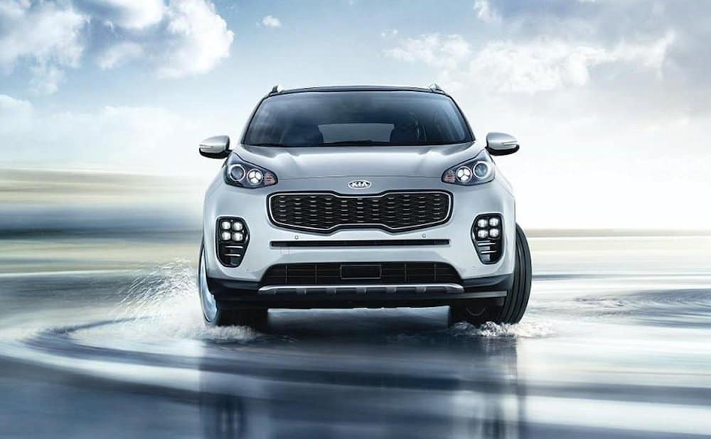 2019 Kia Sportage driving on water