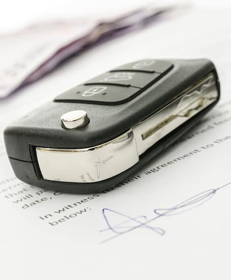 Car Key With Paperwork