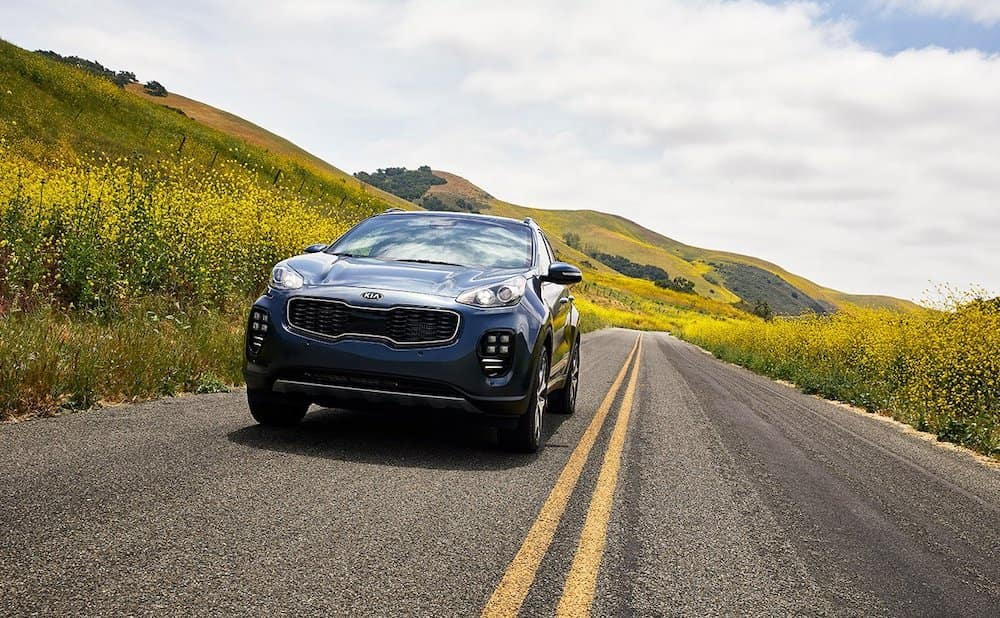 2019 Kia Sportage on the road