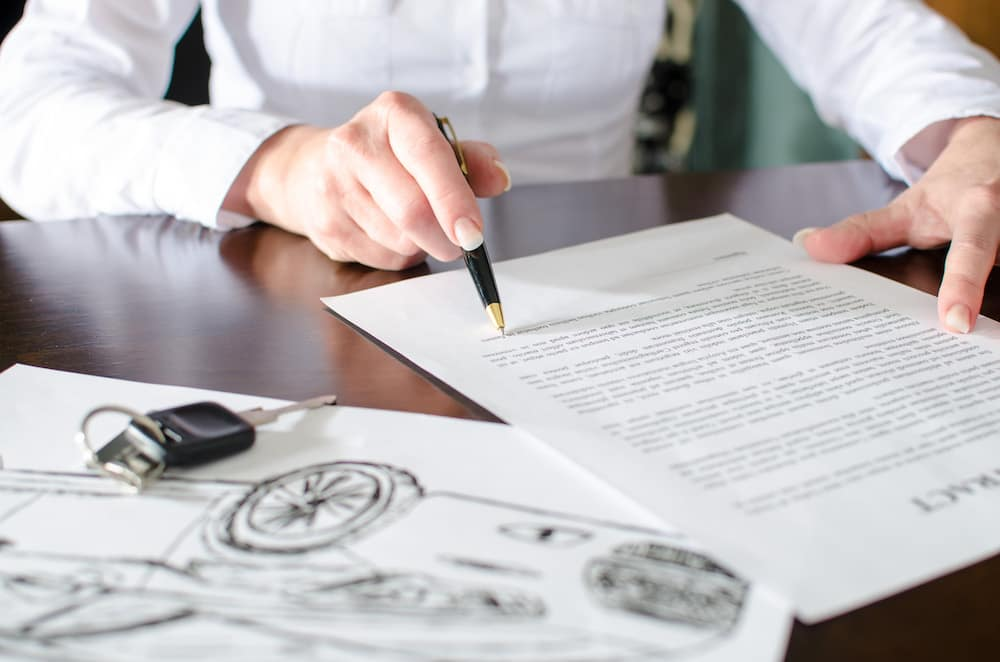 Reading auto loan agreement