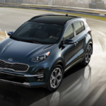 2020 Kia Sportage taking a turn