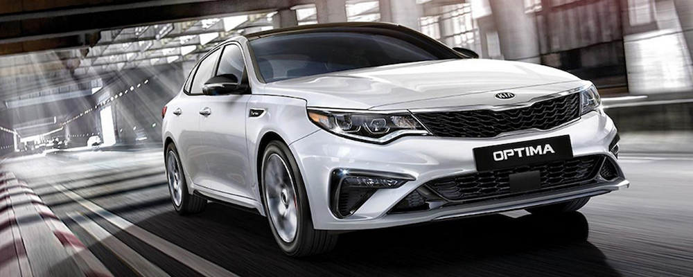 2019 Kia Optima on the road