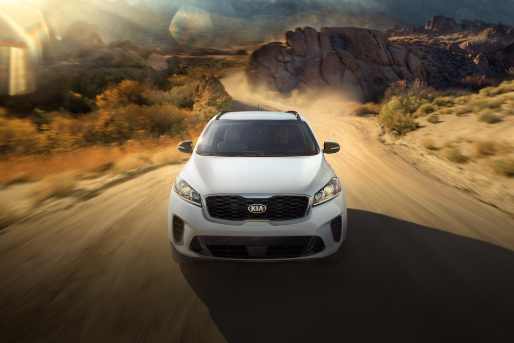 2020 Kia Sorento on a dirt road