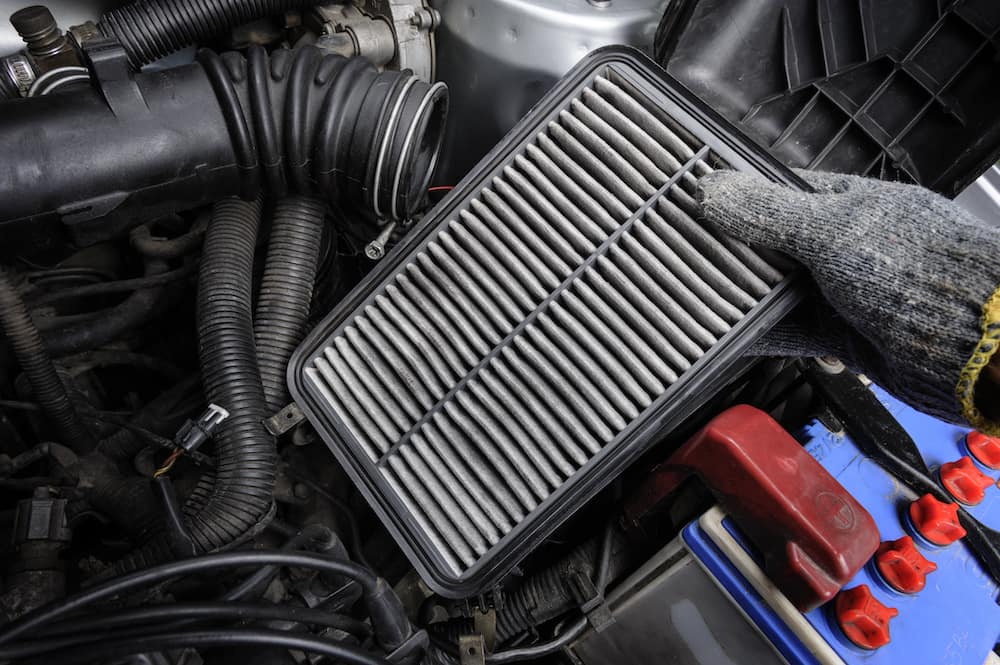 Dirty engine air filter