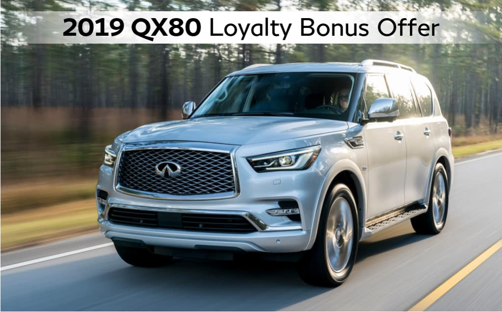2019 QX80 Loyalty Bonus Offer