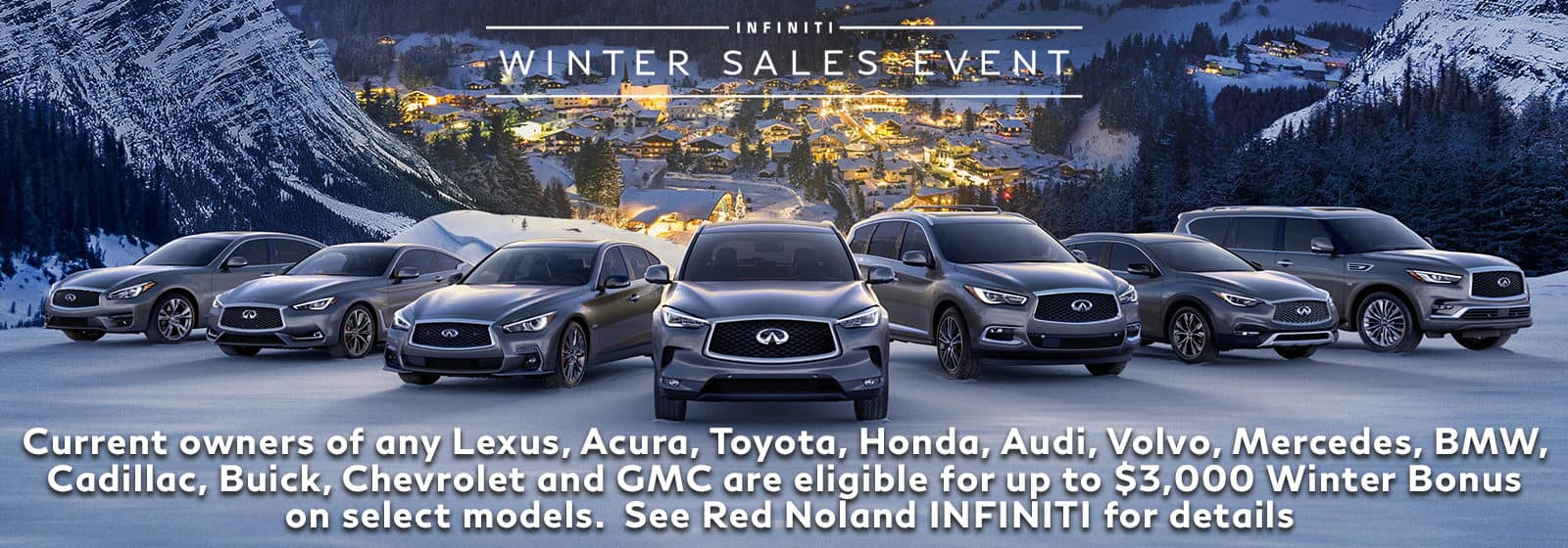 2018 INFINITI Winter Sales Event at Red Noland INFINITI in colorado springs