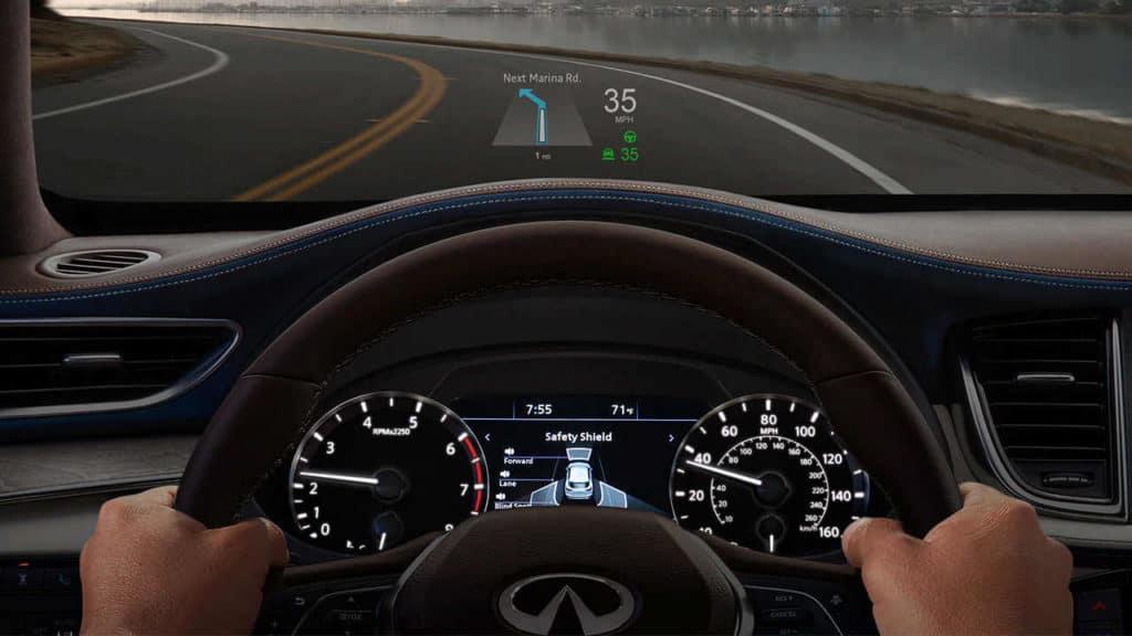 INFINITI QX50 head-up display