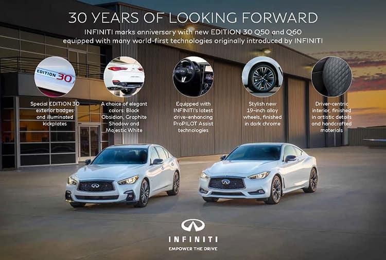 INFINITI Edition 30 Models