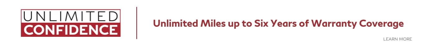 Unlimited miles up to 6 years of warranty coverage