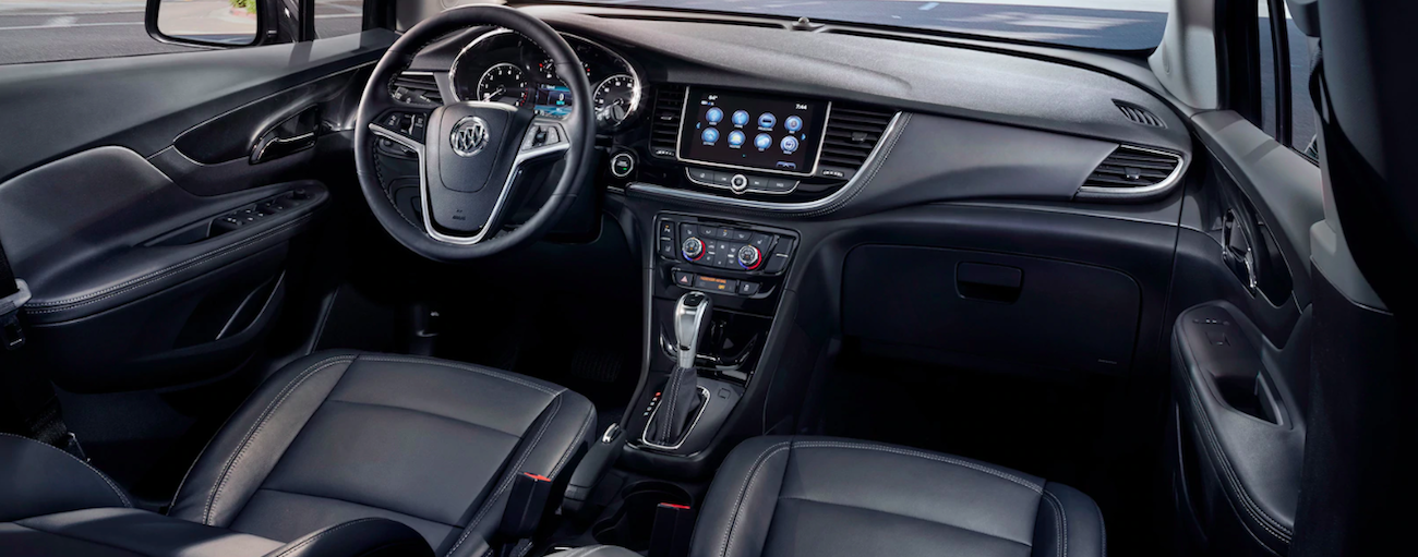 Black leather interior of 2019 Buick Encore