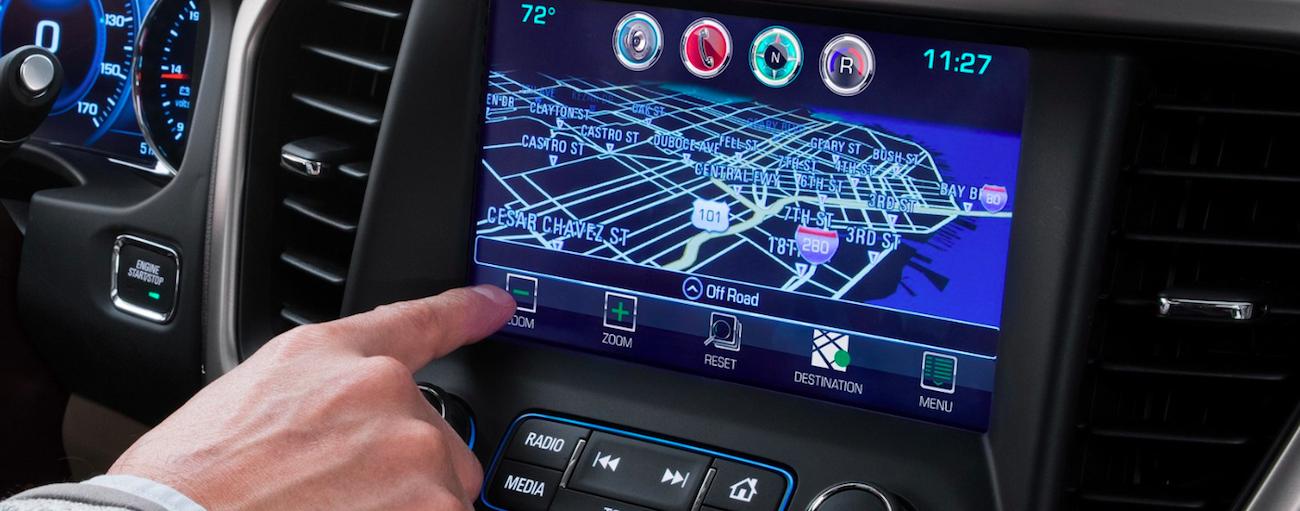 2019 GMC Acadia touchscreen