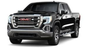 A black 2019 GMC Sierra 1500 on white