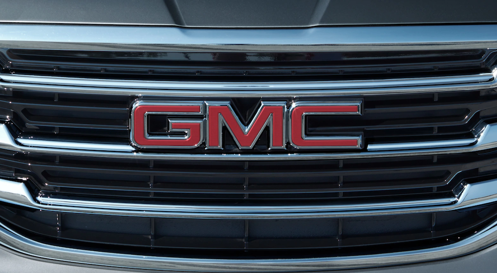 Closeup of GMC grille