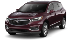 Maroon 2019 Buick Enclave on white