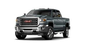 Dark blue/gray 2019 GMC Sierra 2500HD on white