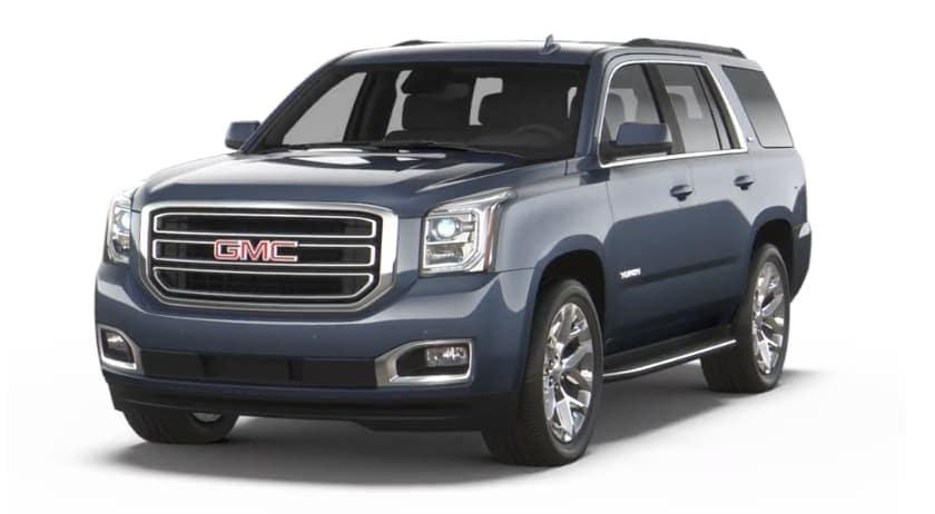 Blue 2019 GMC Yukon XL on white