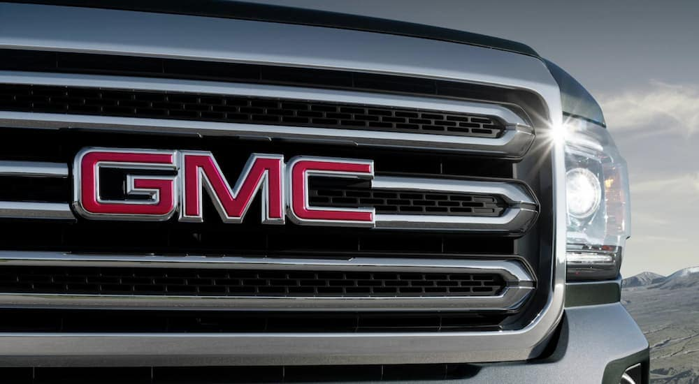 Closeup of GMC Canyon grille