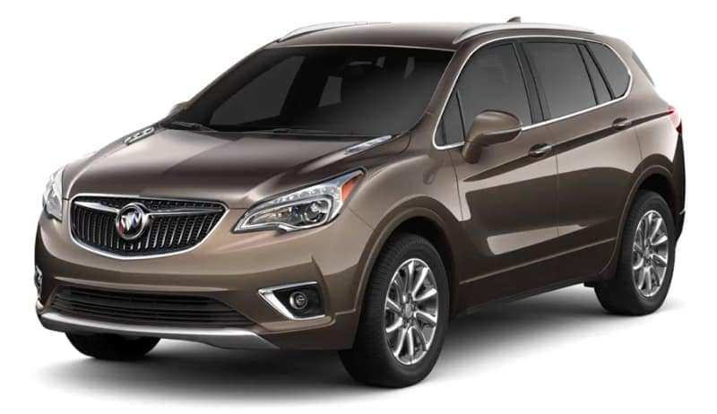 A bronze 2019 Buick Envision on white