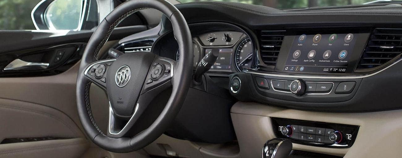 The high tech interior of the 2018 Buick Regal