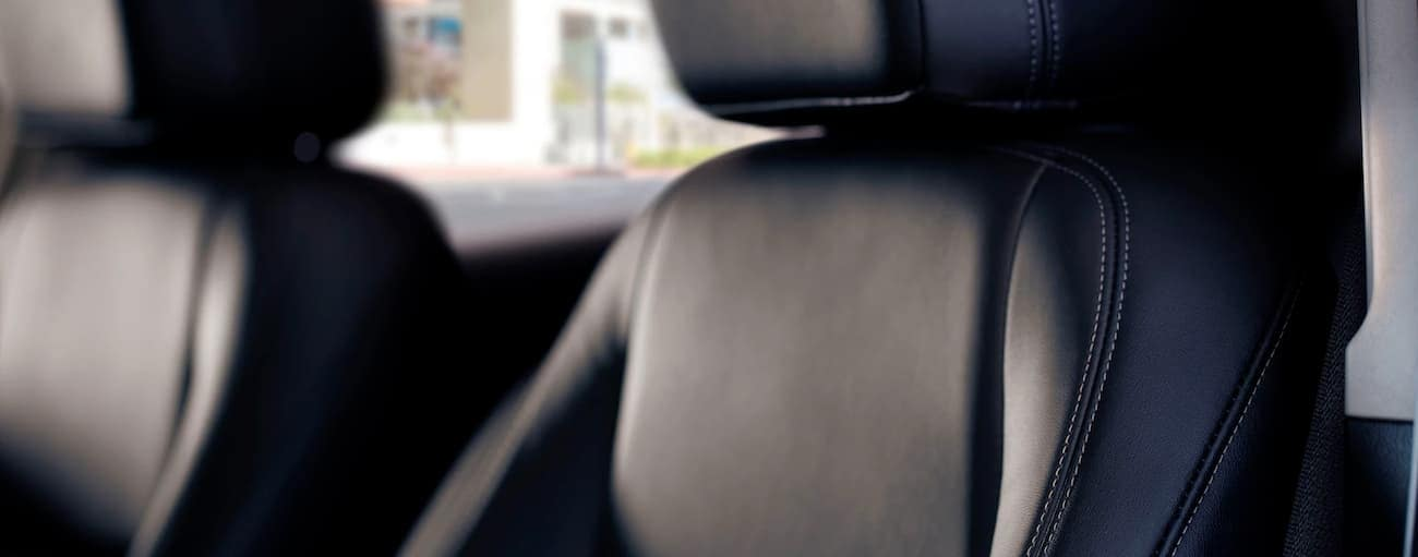 The black interior stitching is shown in detail in the 2020 Buick Encore.