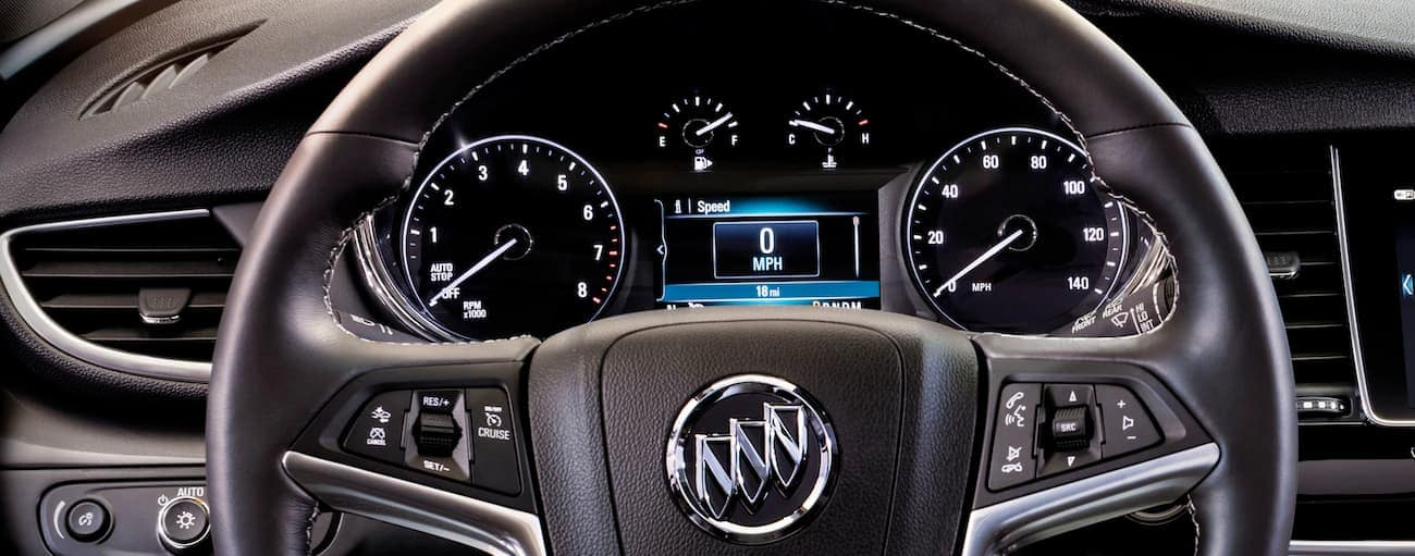 The dashboard display of the 2020 Buick Encore is shown.