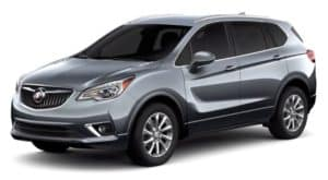 A grey 2020 Buick Envision is facing left.