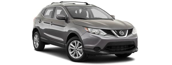 A grey 2019 Nissan Rogue Sport is facing right.