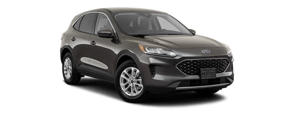 A dark grey 2020 Ford Escape is facing right.