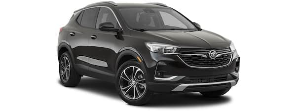A black 2020 Buick Encore GX is angled right on a white background.