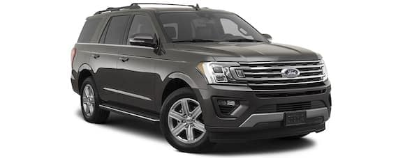 A gray 2020 Ford Expedition is angled right.
