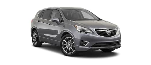 A grey 2020 Buick Envision is angled right.