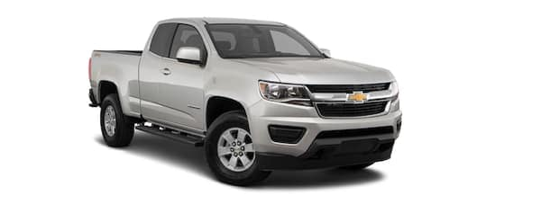 A silver 2020 Chevy Colorado is angled right.