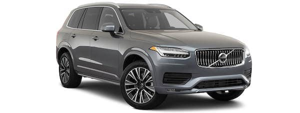 A gray 2021 Volvo XC90 is angled right.