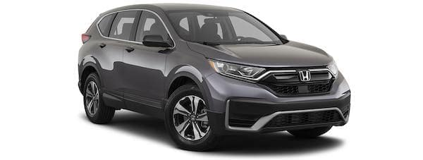 A gray 2021 Honda CR-V is angled right.