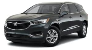 A black 2021 Buick Enclave is angled left.