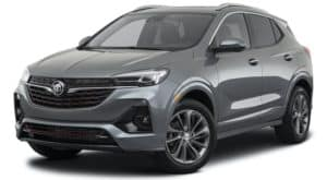 A gray 2021 Buick Encore GX is angled left.