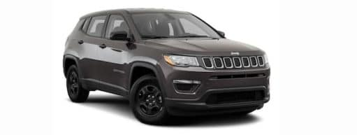 A 2021 Jeep Compass is angled right.