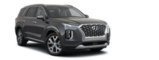 A black 2021 Hyundai Palisade SEL is angled right.