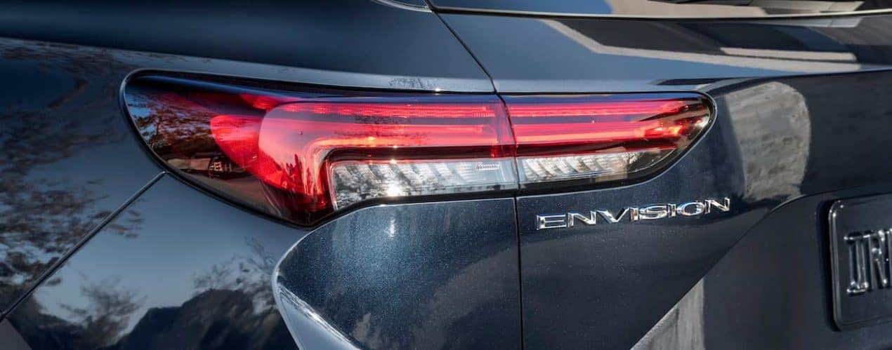A close up shows the drivers side brake light on a 2022 Buick Envision.
