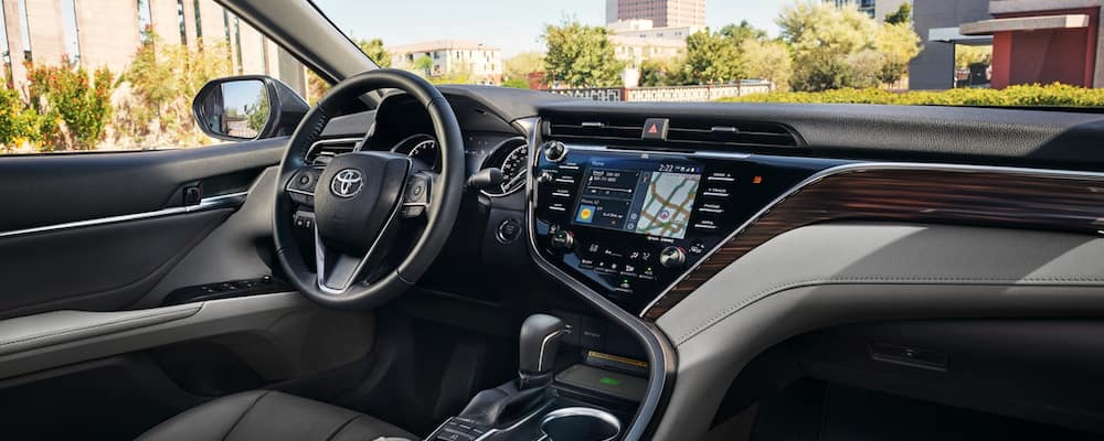 View of Toyota Camry interior dashboard