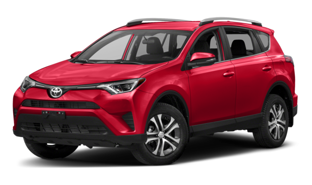Red Toyota RAV4