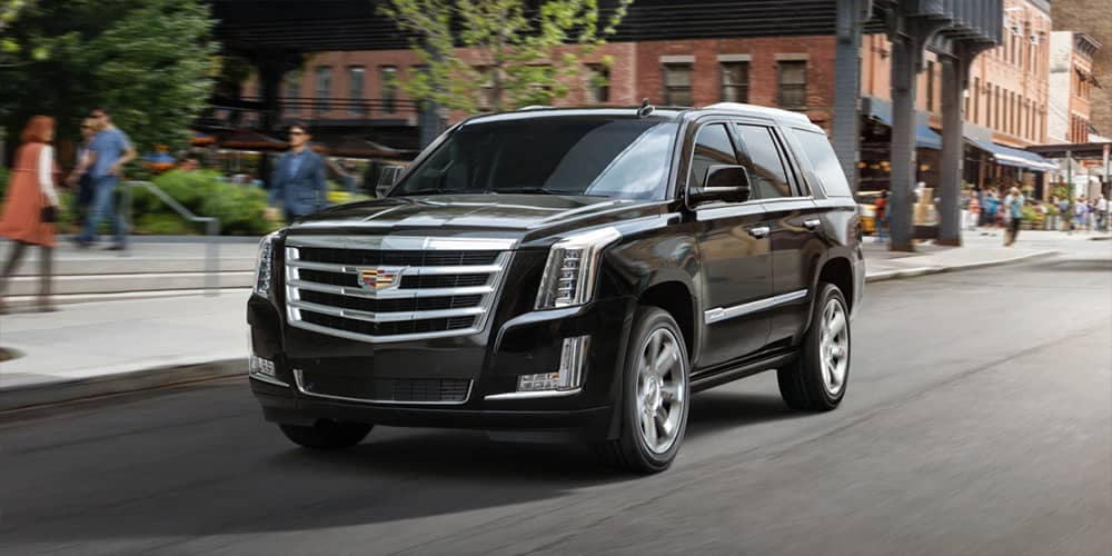 2019 Cadillac Escalade on the highway