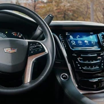 2019 Cadillac Escalade steering wheel and dashboard