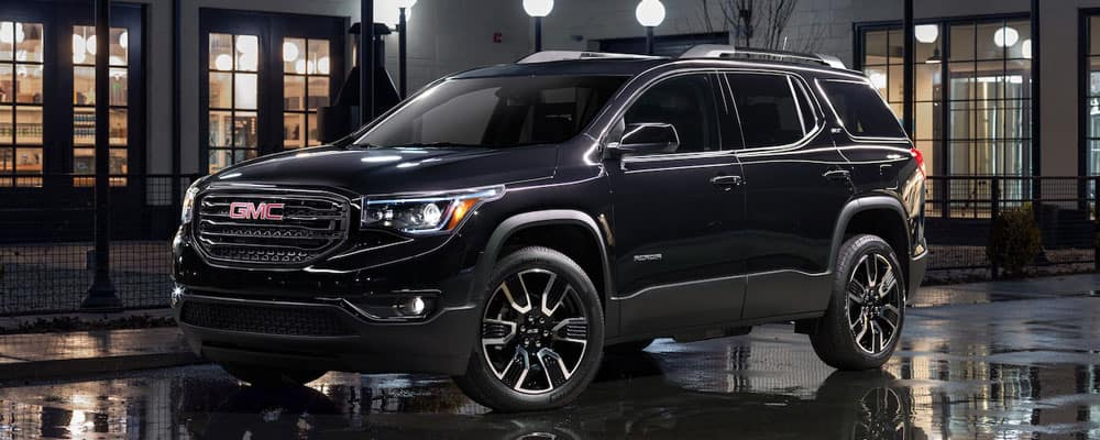 2019 GMC Acadia Parked in Street at Night
