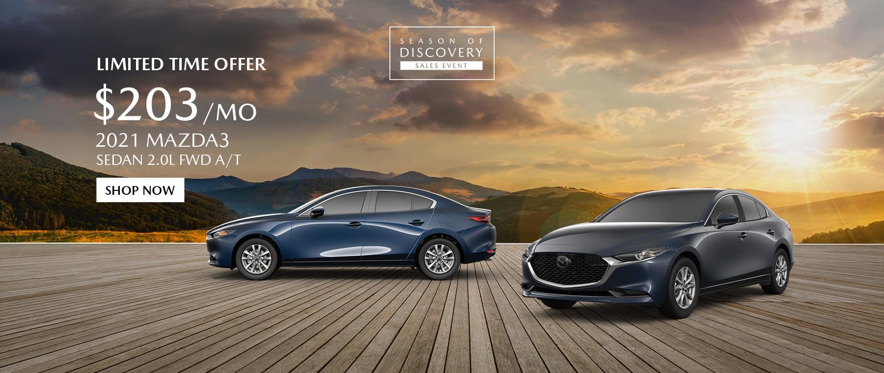 2021 Mazda 3 Special Offer