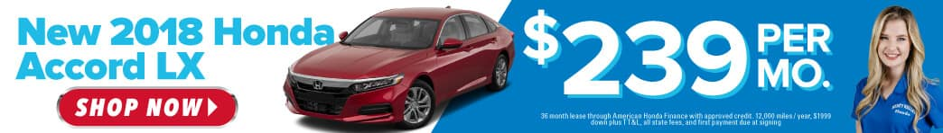 New 2018 Honda Accord